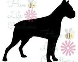 boxer dog doormat boxer dog silhouette etsy