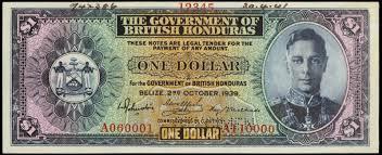 british honduras one dollar banknote 1939 king george vi world