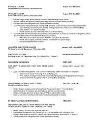 Substitute Teacher Job Description Resume by John Sparks Resume 12 31