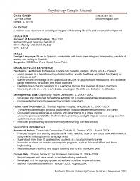 Customer Service Skills Resume Sample by Psychology Resume Resume Example