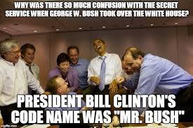 Obama Bill Clinton Meme - obama laughing imgflip