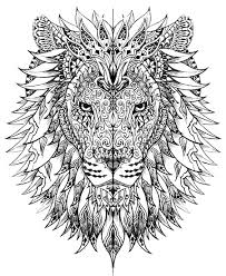 free coloring coloring difficult lion head