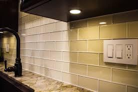 Subway Kitchen Backsplash Cream Glass Subway Tile Kitchen Backsplash Tikspor