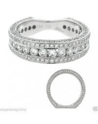 flat engagement rings 1 74ct 18k white gold diamond flat shank wedding band