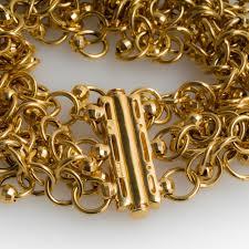 cuff link bracelet images Italian 14k gold chain link bracelet 1 inch wide cuff jpg