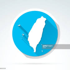 Map Icon Taiwan Map Icon Flat Design Long Shadow Vector Art Getty Images