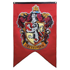 harry potter house wall banner badge patch gryffindor flag