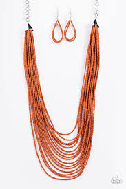 orange bead necklace images Paparazzi accessories the bead scene orange jpg