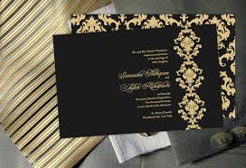 black and gold wedding invitations color monday damask elegance wedding invitationtruly engaging