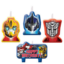 transformer party supplies transformers party supplies transformers candle set