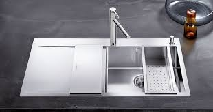 Kitchen Stainless Sinks Minimalist Kitchen With Modern Stainless Steel Sink Cleaning