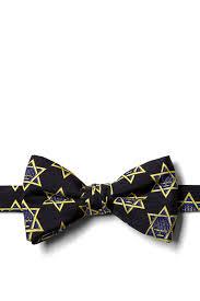 hanukkah tie hanukkah menorah and black silk pre bow tie at