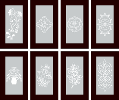 vinyl cabinet designs for frosted glass inserts
