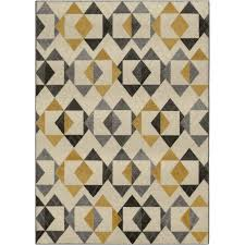 Yellow And Grey Runner Rug Better Homes And Gardens Triangles Area Rug Or Runner Walmart Com