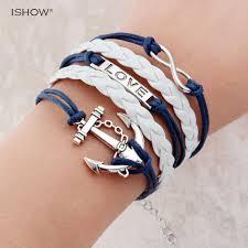 fashion jewelry charm bracelet images Hot sale fashion jewelry anchor rudder love owl charm bracelets jpg