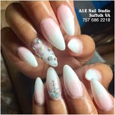 ombré nails a u0026e nail studio suffolk va pinterest nail studio