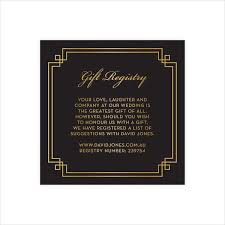 wedding gift card registry gift card templates free premium templates