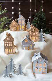 3d paper christmas village lia griffith