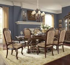 del corto rectangular double pedestal dining room set by pulaski