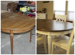 Dining Room Table Refinishing Refinished Kitchen Table Why Not Give It A Try