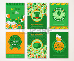 Happy St Patrick U0027s Day Greeting Card Illustration Beer Party