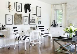 Black And White Striped Accent Chair Black Velvet Chairs With White And Orange Pillows Transitional