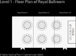 capacity chart u0026 floor plan u2013 royal plaza hotel