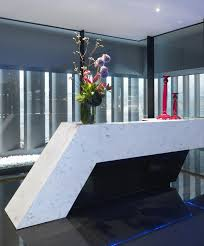 Modern Reception Desk Design by Modern Reception Desk Hanstone Quartz Cascina Collection