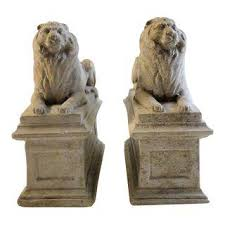 lion bookends vintage used bookends chairish