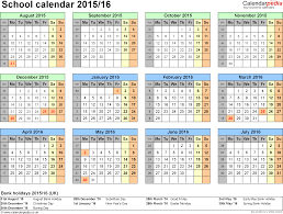 calendars 2015 2016 as free printable word templates