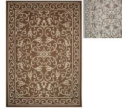 Large Outdoor Rugs by Veranda Living Indoor Outdoor Reversible 5 X 7 Scroll Rug Page 1