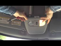 how to change interior light bulb in car dome light removal youtube