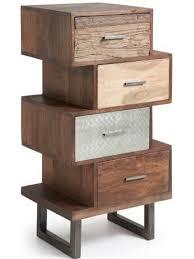cassetti metallo fedex 50x40 in legno tropicale e metallo con cassetti cassettiera