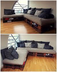 canapé fait maison meubles design superbe canapé en l fait en palette le meuble en