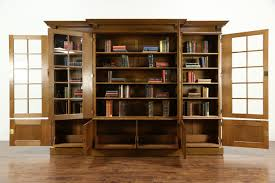 Oak Bookcases With Doors by Sold French Oak 1920 U0027s Antique 10 U0027 Library Bookcase Beveled