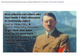 Atheist Memes - god or absurdity blog 30 day ban for dear atheist hitler meme
