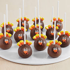 12 handmade turkey brownie pops