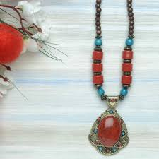 red necklace online images Buy fashionable and attractive red colour beads necklace online in jpg
