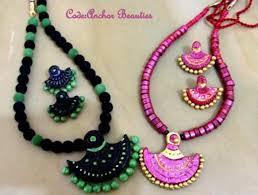 handmade terracotta jewelry designs by mayoora jewels