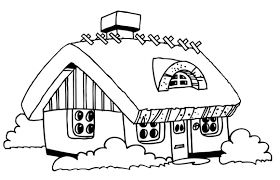 coloring pages houses houses and homes coloring pages for preschool kindergarten inside
