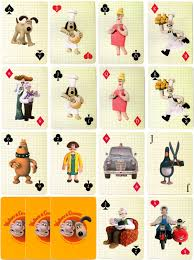 wallace u0026 gromit playing cards