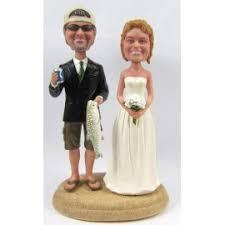 custom fishing wedding cake toppers