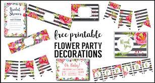 printable birthday decorations free flower party printables free printable decorations paper trail