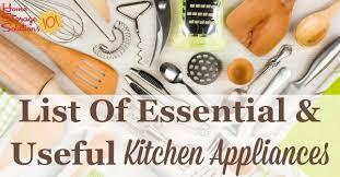 list of kitchen appliances essential gadgets small kitchen appliances list