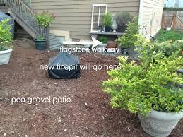 Loose Gravel Patio Progress On A Fall Backyard Project The Pea Gravel Patio The
