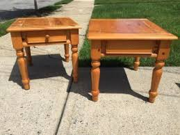 Pine End Tables Painting Pine Furniture Not Your Grandmas Tables Anymore