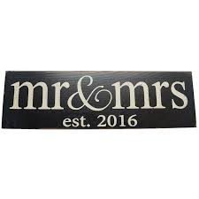 Mr And Mrs Home Decor by Amazon Com Local Artist Mr And Mrs Est 2016 Vintage Wood Sign