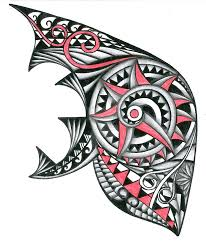 tribal polynesian with red tattoo design by thehoundofulster on