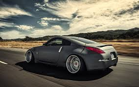 nissan grey nissan 350z stance nissan grey road speed in motion hd wallpaper