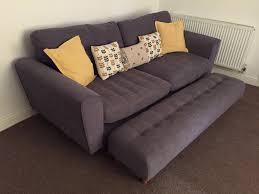 DFS Arden  Seater Sofa And Footstool In KirkbyinAshfield - Sofa and footstool